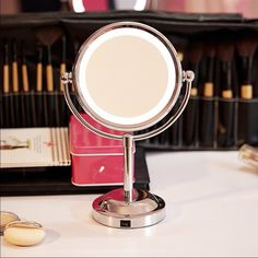 LED Mirror Natural Light Make-Up ✨ NWOT LED Natural Light Make Up Mirror, stickers still on the mirror, I got a new vanity and no longer will need to have this ✨ I love the lighting, small , about a foot tall, powerful mirror, perfect for getting ready  OFFERS CONSIDERED , ask about bundling  (batteries not included) MAC Cosmetics Makeup Brushes & Tools