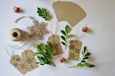 """""""Snowflake"""" gift tags, for a natural, simple and fuss-free approach to Christmas. Hand drawn in Brisbane on recycled card made in Australia  #christmas #tags #gifts #card #recycled #handdrawn #madeinaustralia #natural"""