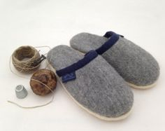 hand sewn wool slippers