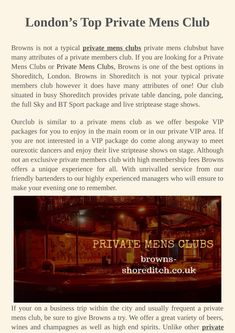Looking for the best private men's club in London, united kingdom? Browns Shoreditch provides you the facility of private men's club where you will find special deals for a drink. Club Tops, Special Deals, Good Things, Day, London United, Happy Hour, United Kingdom, Bottle, Drinks