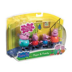 "Fisher-Price Peppa Pig 4-Pack Family Figures -  Fisher-Price - Toys""R""Us . Would Hannah like this?"