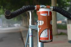 high quality bike bicycle cow leather water bottle holder track bike fixie fixed gear cowhide bottle cage(China (Mainland))