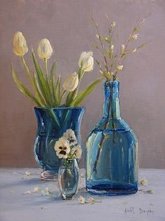 True Blue by Kathleen Dunphy Oil ~ 18 x 14
