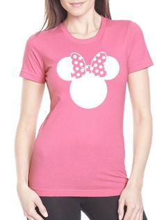 Minnie Mouse Shirt, Pink Minnie Shirt // Adult Disney Women's T-Shirt // Minnie Mouse Shirt // Mickey Shirt // Disney's Minnie Mouse by HimAndGem on Etsy https://www.etsy.com/listing/229140324/minnie-mouse-shirt-pink-minnie-shirt