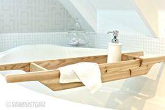 DIY Gift Ideas: Cedar Bathtub Caddy
