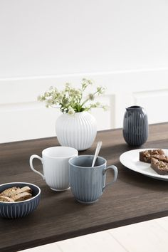 Hammershøi Mugs White and Marble from Kähler design