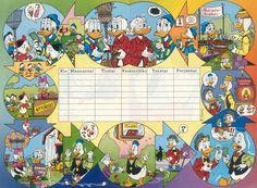 Walt Disney lukujärjestys Walt Disney, Back To School, Activities For Kids, Calendar, Classroom, Children, Prints, Image, School Ideas