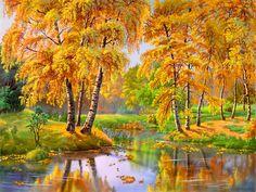 Autumn day. Birch