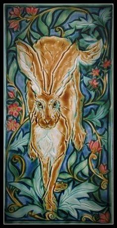 67 Best Ceramics By Mary Philpott Verdant Tile Images On Amazing 2 Tagged at verstak Art Nouveau Tiles, Art Nouveau Design, Art Deco, Craftsman Tile, Rabbit Sculpture, Artistic Tile, Bunny Art, Arts And Crafts Movement, Tile Art