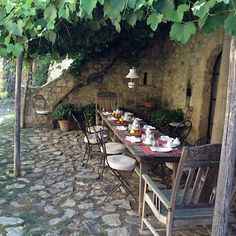 Courtyard in France