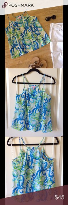 Lilly Pulitzer silk top size M NWOT Beautiful silk top.  Never worn. Lilly Pulitzer Tops Camisoles