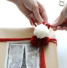 DIY Fabric Gift Wrap: Cozy ParisianHoliday - Home - Creature Comforts - daily inspiration, style, diy projects + freebies
