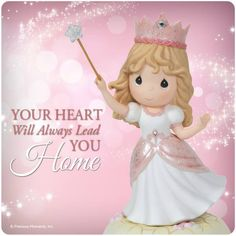 Precious Moments - Your Heart Will Always Lead You Home - Wonderful World of Oz Wizard Of Oz Disney, Precious Moments Figurines, Find Color, My Precious, Happy Smile, Your Heart, Princess Peach, In This Moment, Willow Tree