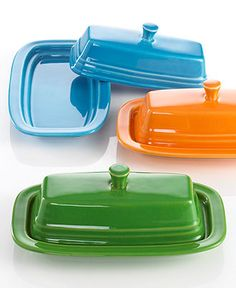 Fiesta® Covered Butter Dish - Casual Dinnerware - Dining & Entertaining - Macy's
