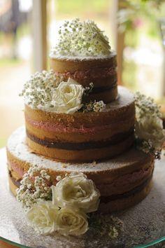 "bolo ""rústico"" - naked cake"