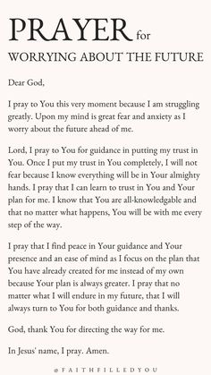 Prayer For Worry, Prayer For Guidance, Prayer For Health, Prayers For Strength, Prayers For Healing, Prayer Verses, God Prayer, Prayer Quotes, Faith Quotes