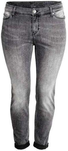 H&M - H&M+ Girlfriend Low Jeans - Gray - Ladies