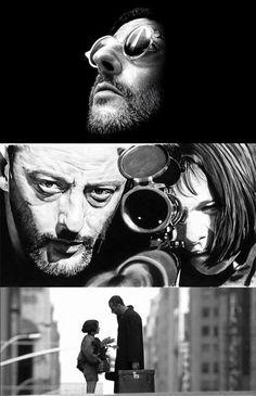 Leon the Professional Jean Reno, Professional Wallpaper, The Professional Movie, Natalie Portman Leon, Leon Matilda, Mathilda Lando, Image Deco, Luc Besson, Desenho Tattoo