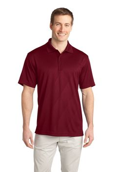 Big Men's Tech Embossed Polo by Port Authority