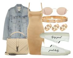 """""""#Look:#474"""" by dollarwomanlux ❤ liked on Polyvore featuring Cartier, Current/Elliott, Yves Saint Laurent, Essie and Ray-Ban"""