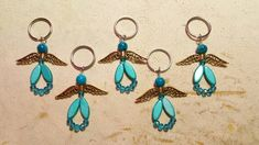 Made by Alexandra Reiner - etsy shop 'Chest of Beads' Keychains, I Shop, Angel, Etsy Shop, Drop Earrings, Personalized Items, Beads, Shopping, Jewelry