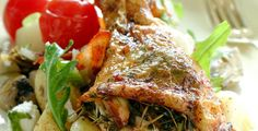 Potetsalat til kyllinglår med urter