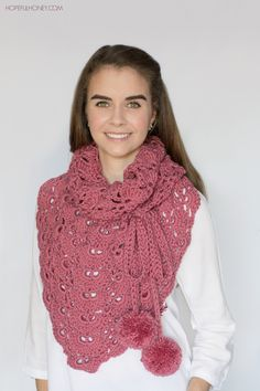 Budding Orchid Scarf & Shawl - Crochet Pattern + Giveaway