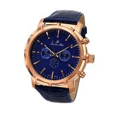 Porsamo Bleu Watches Men's NYC Watch In Navy & Rose Gold