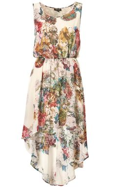 Hi-Lo floral, match it with a belt and cute sandles and your good to go