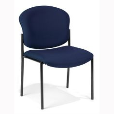 Amazon.com - Armless Vinyl Upholstered Stacking Chair (Navy) $95.95