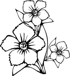 Download and Print easy printable flower coloring pages  Flowers