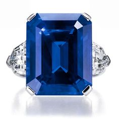 Harry Winston Diamond and Sapphire Ring