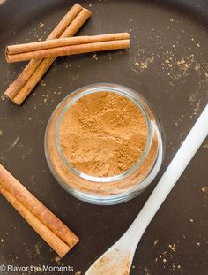 Homemade Chai Spice Mix is a warm spice blend inspired by chai tea.  It's a delicious addition to quick breads, pancakes, oatmeal, topping lattes, and so much more! @FlavortheMoment