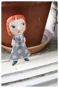 little flat doll