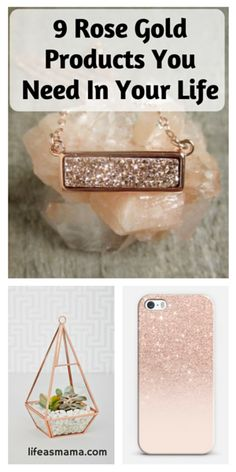 Rose gold has become increasingly popular over the past few years in fashion and design. It is a seriously beautiful color that goes with almost anything and looks great no matter what you put it on. Since it has become so popular, you can find it on almost anything, which means there are lots of beautiful rose gold products out there. Here are just 9 really beautiful rose gold products that we love and think you'll love, too.