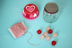 baby food jar valentines