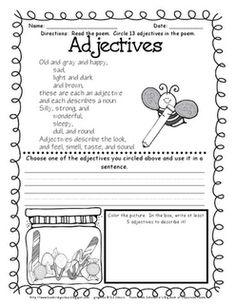 Teaching - ELA: Adjectives on Pinterest | Adjectives Activities ...