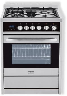 Pricey, no reviews. $1100 at AJ Madison. Haier HCR2250AGS 24 Inch Gas Range with 2.0 cu. ft. Capacity, 4 Sealed Burners, 37,000 BTU Cooktop, Convection Oven, Continuous Grates, Halogen Interior Lighting, Broil Pan Set and Manual Clean