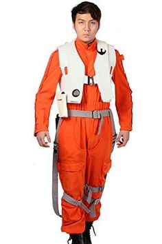 XCOSER Poe Dameron Costume Jumpsuit for Mens Halloween Cosplay L ** You can find more details by visiting the image link.