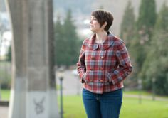 Amy of Really Handmade's Pendleton wool Colette Anise Colette Patterns, Pendleton Woolen Mills, Tweed Jacket, Amy, Sewing Patterns, Men Casual, Plaid, My Style, Mens Tops