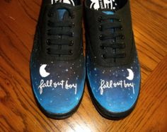fall out boy converse | Fall Out Boy Shoes || Hand Painted