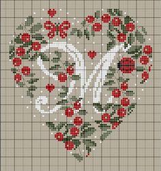 Letra M corazon