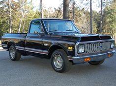 AutoTrader Classics - 1972 Chevrolet C10 Truck Black 8 Cylinder Automatic 2 wheel drive | Classic Trucks | Scottsdale, AZ