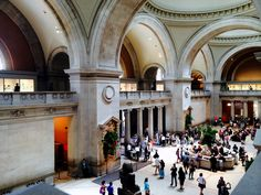 The main lobby of the Metropolitan Museum of Art in New York city - August 28, 2014 - Photo by James Scully