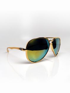 Metallic gold reflective aviators $30.00