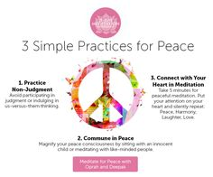 Check out Deepak's 3 simple practices for peace you can do right now!