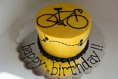Tour de France racing cake with course map.