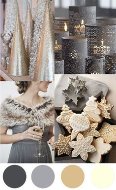Christmas Colour Palette – Grey & Cream