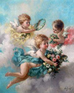 Allegoria della Primavera   TuttArt@   Pittura * Scultura * Poesia * Musica  Edouard Bisson [1856-1939]