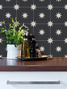Moroccan Starry Night Black Removable Vinyl Wallpaper   Peel U0026 Stick   No  Glue, No Mess